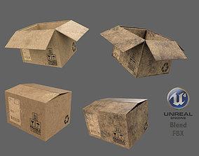 logistic Cardboard Box 3D model realtime