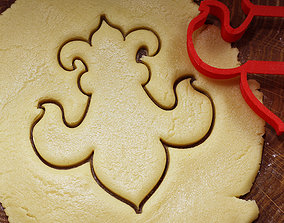 Lily cookie cutter for professional 3D print model