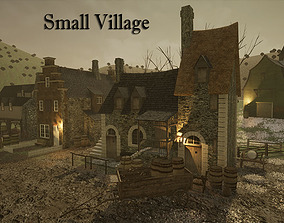 3D asset Small Village for UNREAL