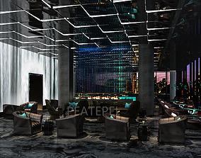 Hotel Bar 3D model restaurant