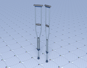 3D model realtime Crutches