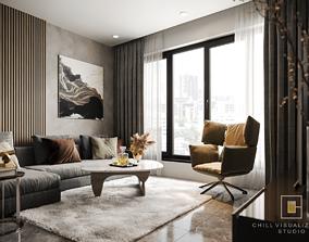 3D model Modern Style Apartment Design Ft Chill Studio