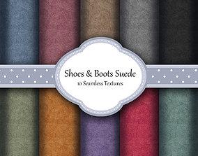 3D model Boots Rough Suede Fabrics Seamless Textures Set