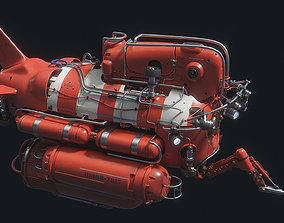 OMAR Red Submersible 3D model