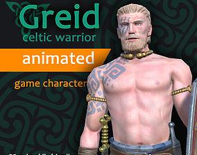 Greid celtic warrior 3D model