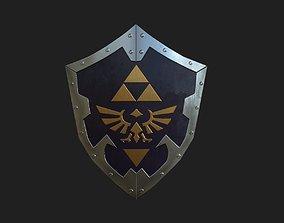 Zelda Link Shield Custom 3D model low-poly