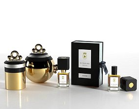 Collection of Perfumes gold 3D model