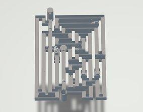 3D model Game Design - Crypt Labyrinth Level