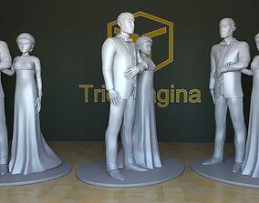 Wedding couple cake decor Vrs02 3D printable model