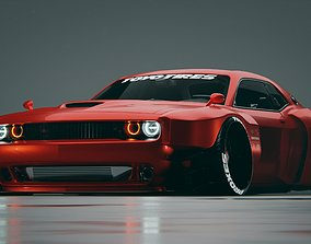 3D Dodge Challenger Hellcat quad turbo