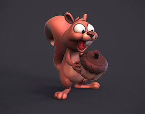 Excited squirrel 3D printable model
