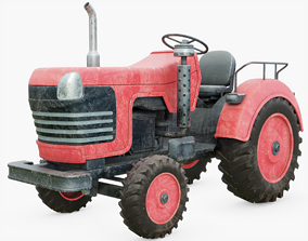 Old Tractor Generic 3D asset