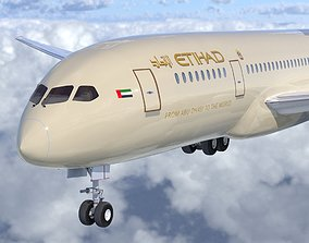 Boeing B- 787 Dreamliner Etihad Airlines High detailed 3D