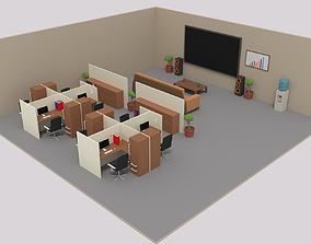 3D model Isometric LowPoly Office