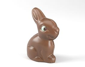 Photorealistic Chocolate Bunny 3D Scan
