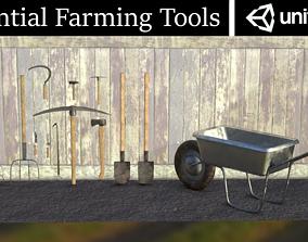 Essential Farming Tools Low Poly PBR 3D asset