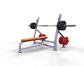 3D Flat bench press machine