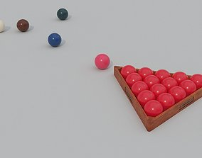 Snooker Balls And Triangle 3D asset