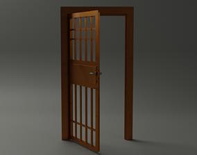 Door prison cell - 3d Model wood realtime