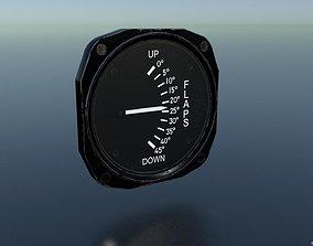 3D asset low-poly FLAPS POSITION GAUGE