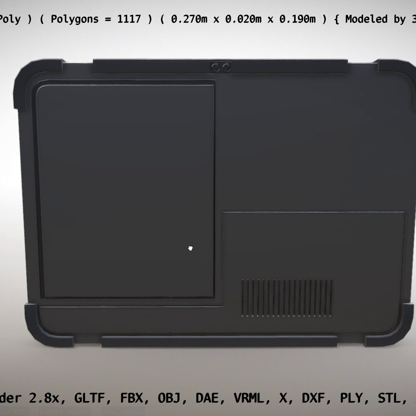 Robust Tablet PC Low-Poly Version