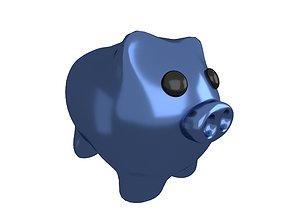 3D asset Piggy Bank V1 009