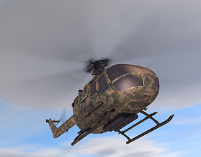 Low poly VR AR game ready military 3D model