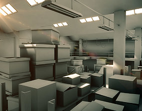Warehouse interior 3D shed