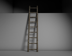 3D asset VR / AR ready Old Ladder