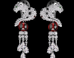 3d 3D print model panther earring jewelry