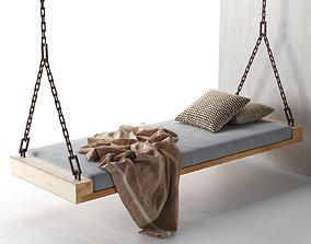 3D model Hawaii Hanging Bed pillow