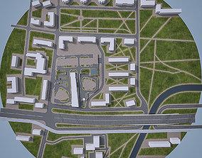 3D asset Urban Area Cityscape 07