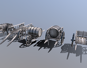 Medieval Cart Pack 3D asset