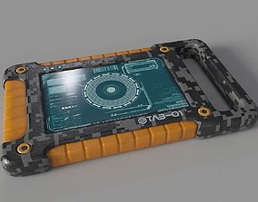 Sci Fi Tablet Tab-01 3D model low-poly