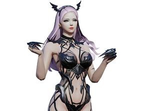 Girl Sera White Snow 3D asset