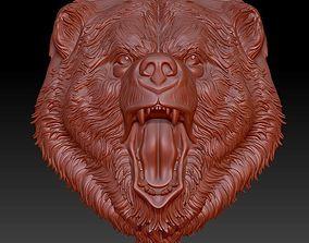 3D printable model bear head cnc