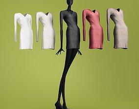 Mannequin 601 coll 60 long dress 01 3D model