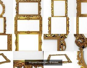 painting 3D 10 carved frames set