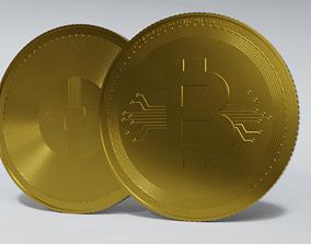PBR Bitcoin 3D model