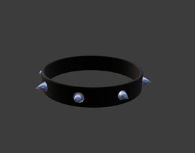 3D asset Cute Clean Black Spiked Collar Blender FIole