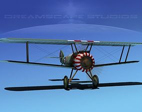 3D model rigged Sopwith Camel biplane airplane