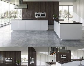 3D model Kitchen BVA Mood Legno Rovere interior