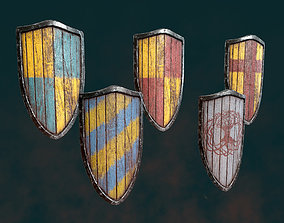 military 3D model VR / AR ready Medieval Shield