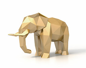 3D asset Low Poly Elephant