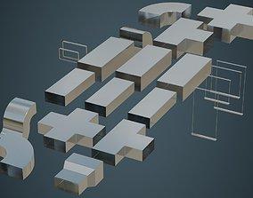 3D asset HVAC Duct 1A
