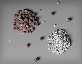 3D PBR Grains of Salt and Pepper