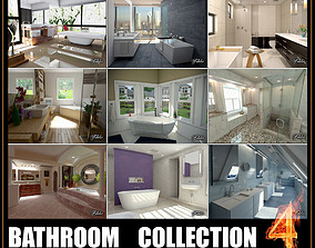 Bathrooms collection 3D model