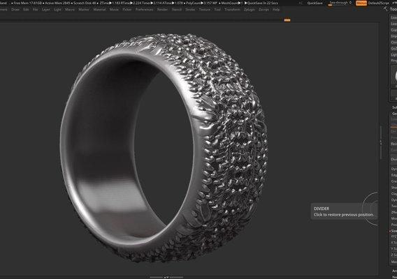 High detailed ring 3D print model