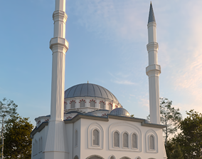 mosque 3d model low-poly
