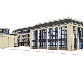 Office-Teaching Building-Canteen 49 3D